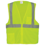 High-Visibility Lightweight Mesh Polyester Safety Vest front